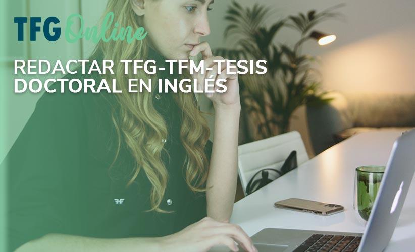TFG-TFM-Tesis doctoral en Inglés