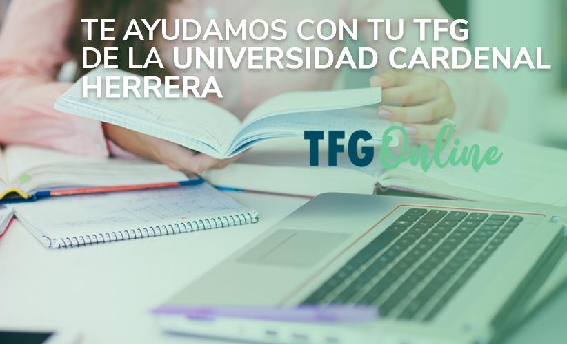 Te ayudamos con tu TFG de la Universidad Cardenal Herrera
